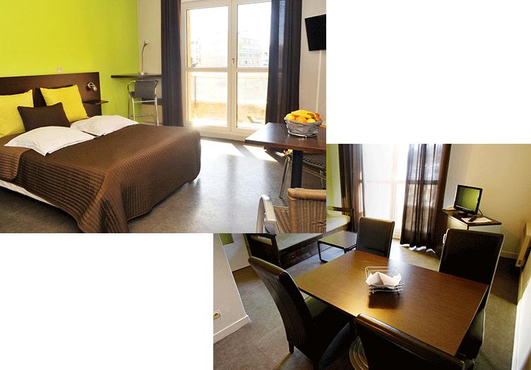 h tel les palatines saint tienne 48 appartements quip s. Black Bedroom Furniture Sets. Home Design Ideas